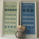 Champion Daddy Grandad And Dad Print