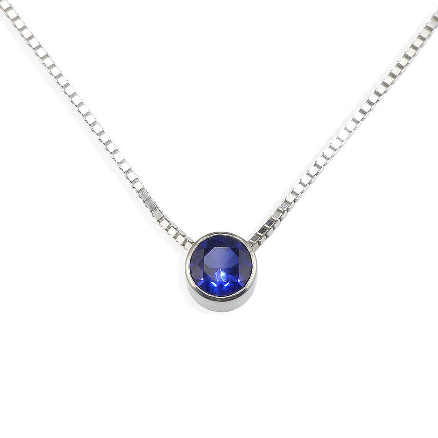 Pearl Jewellery Necklace >> sapphire necklace september birthstone by lilia nash ...