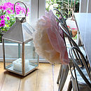 Giant Paper Flower on Chair Back