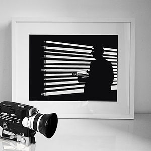 'The Voyeur' Art Print - monochrome