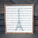 Handmade 'Paris' Typographic Wood Print