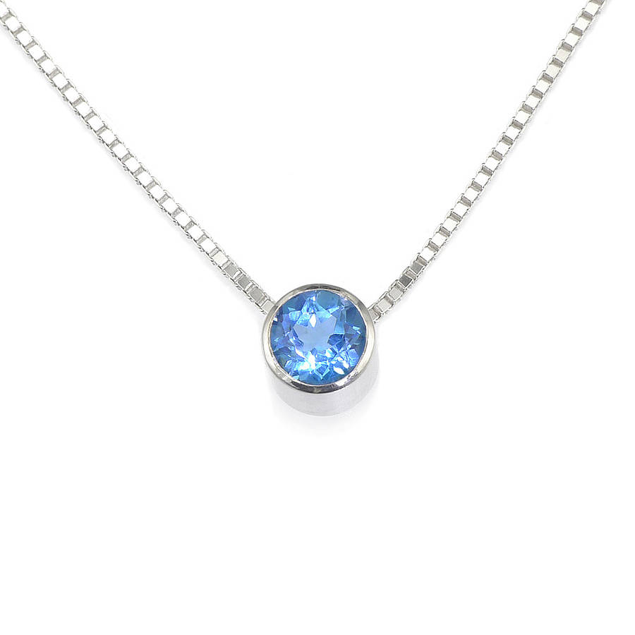 diamond pendant silver blue topaz ctw necklace samuels sterling jewelers and