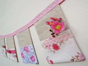 Handmade Hanging Pocket Organiser Rosie Posy - outdoor decorations