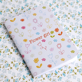 Flower Girl Notebook