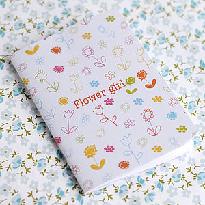 Flower Girl Notebook - wedding thank you gifts