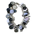Monochrome Button Bracelet