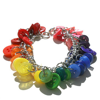 Rainbow Button Bracelet