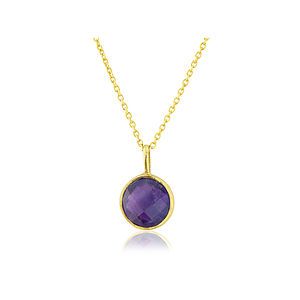 Amethyst Drop And Gold Vermeil Pendant