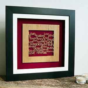Personalised 'Love Is…' Wall Art