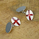 Personalised Silver St George Cufflinks