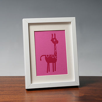 Limited Edition Janet Giraffe Print