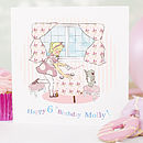 Personalised Girl's Birthday Card 'Tea Party'