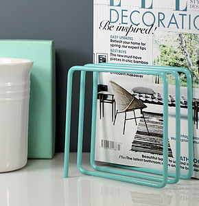 Magazine Rack, Blue - shelves & racks