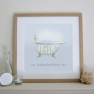 Personalised Bath Print