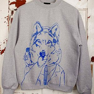 Disgruntled Wolf Jumper - for him