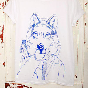 Disgruntled Wolf T Shirt - t-shirts, tops & tunics