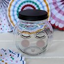 Small Face Design Storage Jar