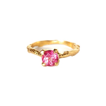 Gold & Pink Topaz Ring A Sparkle In The Wild