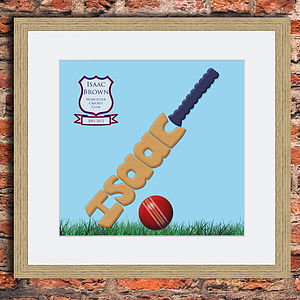 Personalised Cricket Print