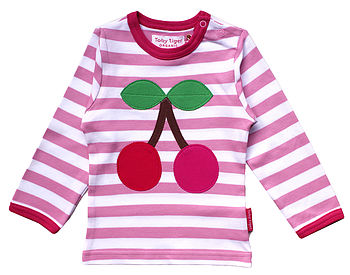 Organic Applique Cherry T Shirt