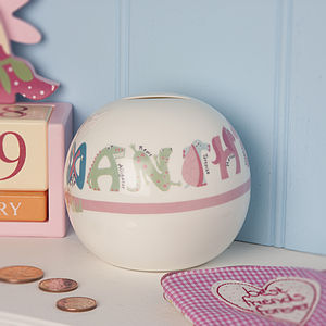 Personalised Ceramic Animal Money Box - money boxes