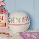 Personalised Ceramic Animal Money Box