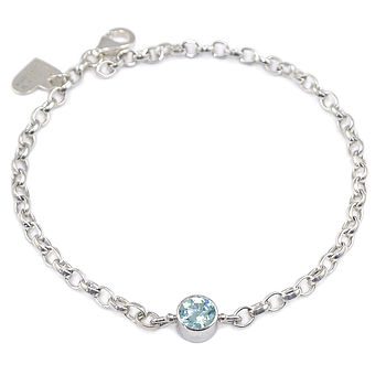 Aquamarine Bracelet March Birthstone