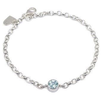 Aquamarine Bracelet March Birthstone