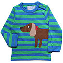 Boy's Organic Sausage Dog T Shirt