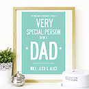 Personalised Very Special Father's Day Print