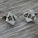 'Number One Dad' Handmade Ceramic Cufflinks