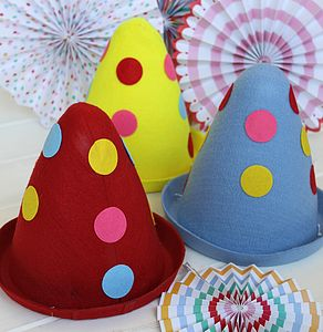 Felt Spotty Clown Hat - hats, gloves & scarves
