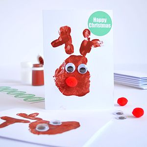 Make Five Handprint Reindeer Cards Kit - christmas cards