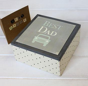 Wooden 'Best Dad' Box