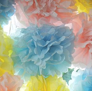Giant Pastel Pom Poms - outdoor decorations