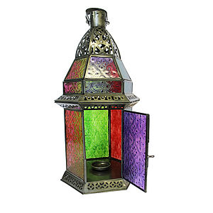 Hexagonal Tealight Lantern Hang Or Stand - lights & lanterns