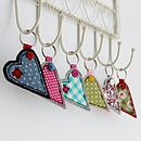 Fabric Heart Key Ring