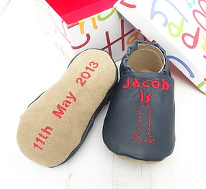 Personalised Birthday Keepsake Baby Shoes