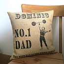 Personalised 'Dad Number One' Cushion
