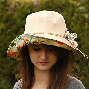 Women's Shapeable Cotton Sun Hat - hats & hair accessories