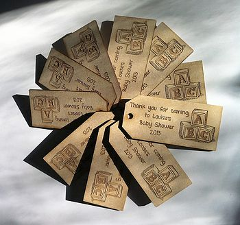 Set Of Personalised Wooden Gift Tags