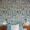 Coastal Cottages Wallpaper Sample