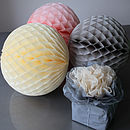 Set Of Four Vintage Look Paper Balls Large