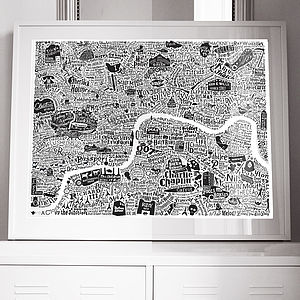 Film London Map Art Print - film & tv