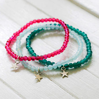 Clara Bright Bead And Star Bracelet