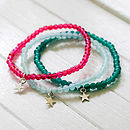 Clara Bright Bead And Star Bracelet