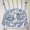 Vintage Wooden 'Love Seat' Chair - Grey