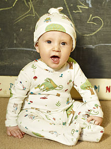 The Reluctant Dragon Sleepsuit - babygrows