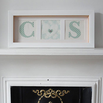 Wedding Initial Framed Artwork