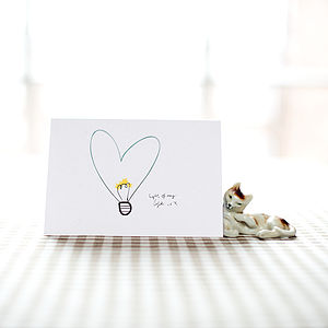 'Light Of My Life' Card - wedding cards
